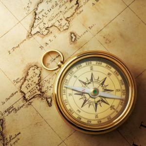 地図と磁石